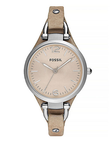 Fossil Georgia Sand Leather Watch-SAND-One Size