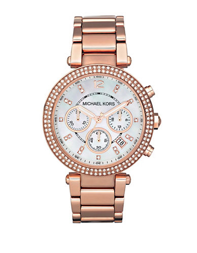 Michael Kors Rose Gold Coloured Parker Watch-ROSE GOLD-One Size