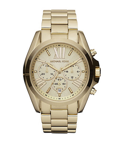 Michael Kors Gold Coloured Bradshaw Watch-GOLD-One Size