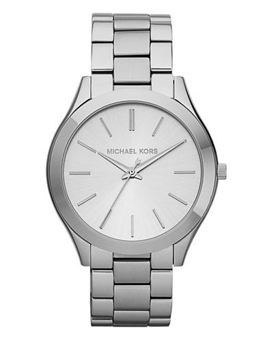 Michael Kors Slim Silver Watch-SILVER-One Size
