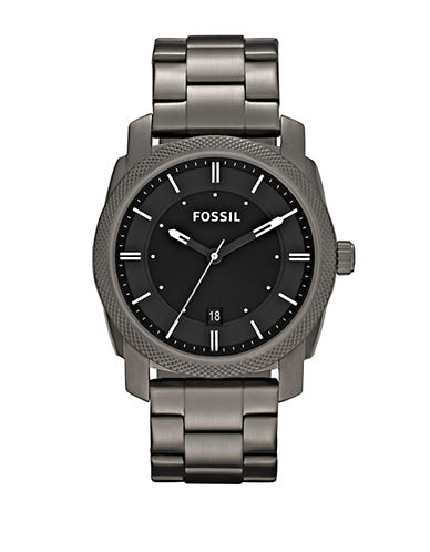 Fossil Machine Stainless Steel Watch-GREY-One Size
