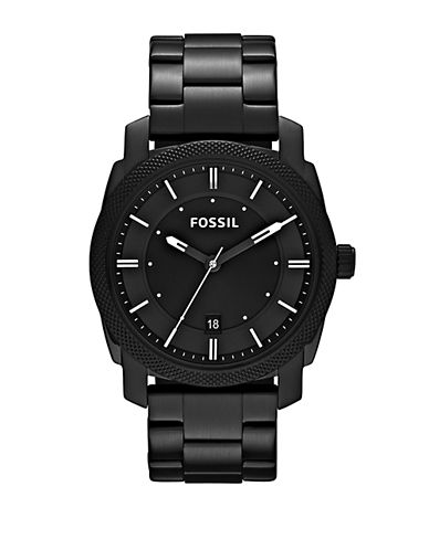 Fossil Machine Stainless Steel Watch-BLACK-One Size