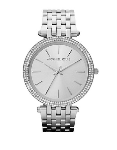 Michael Kors Stainless Steel Pipa Watch-SILVER-One Size