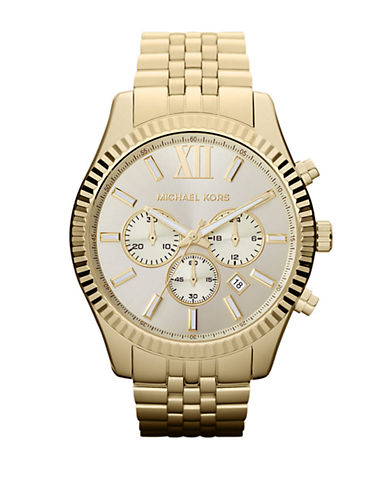 Michael Kors Mens  Gold Coloured Lexington Watch-GOLD-One Size