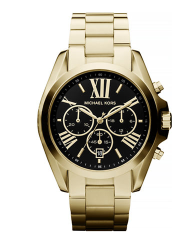 Michael Kors Gold-Tone  Bradshaw Watch with a Black Dial  MK5739-GOLD-One Size