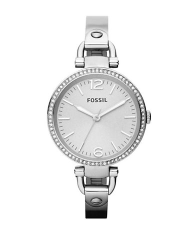 Fossil Georgia Glitz Stainless Steel Watch-SILVER-One Size