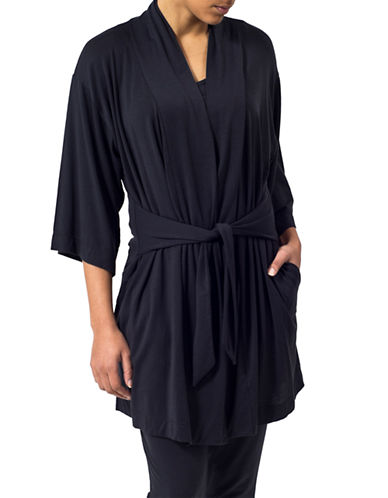 Paper Label Wintour Kimono Robe-BLACK-Medium 87303158_BLACK_Medium