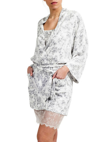 Paper Label Anna Floral Kimono Robe-IVORY/GREY-Large 88171295_IVORY/GREY_Large