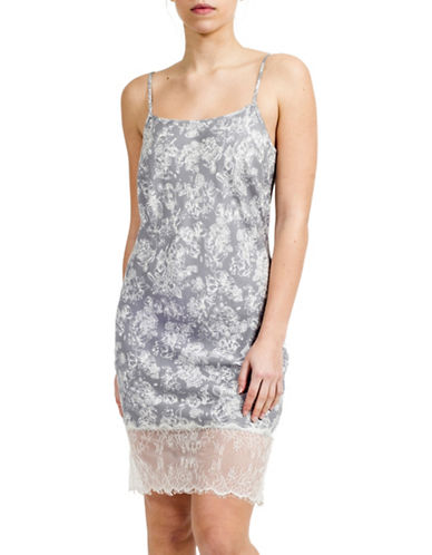 Paper Label Freya Lace Hem Slip Dress-GREY/IVORY-Small 88171095_GREY/IVORY_Small
