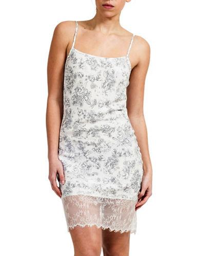 Paper Label Freya Lace Hem Slip Dress-IVORY/GREY-Small 88171101_IVORY/GREY_Small