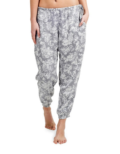 Paper Label Alexandra Cropped Lounge Pants-GREY/IVORY-Small 88171084_GREY/IVORY_Small