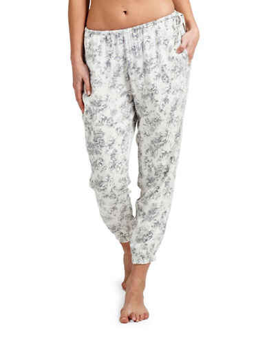 Paper Label Alexandra Cropped Lounge Pants-IVORY/GREY-X-Large 88171092_IVORY/GREY_X-Large