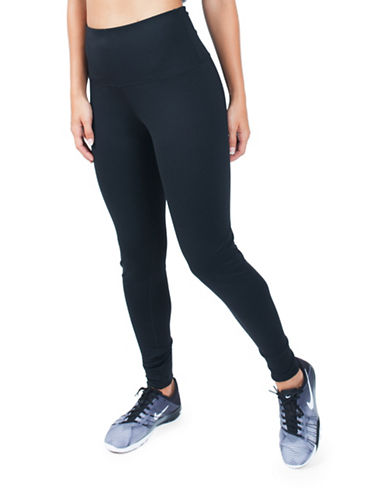 Paper Label High Top Leggings-BLACK-Large 88587968_BLACK_Large