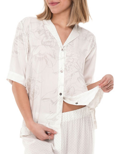 Paper Label Ryder PJ Blouse-WHITE CLOUD-X-Small