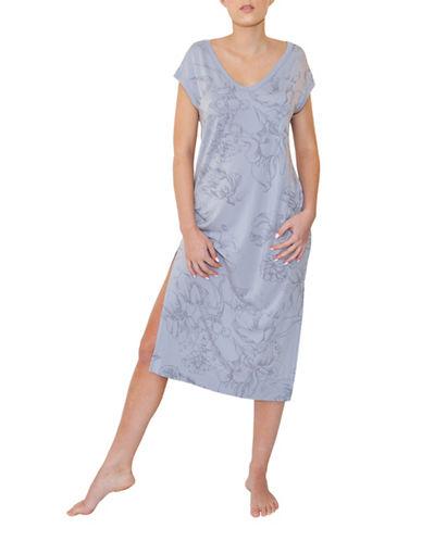 Paper Label Priya Printed Maxi Gown-LILAC GREY-Small