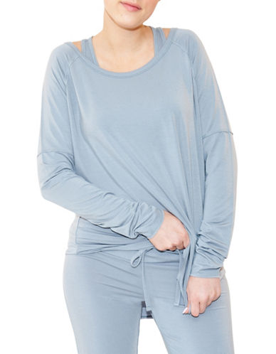 Paper Label Lara Lounge Top-BLUE-X-Small 89062328_BLUE_X-Small