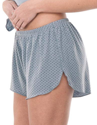 Paper Label Chrissy Shorts-BLUE-X-Small