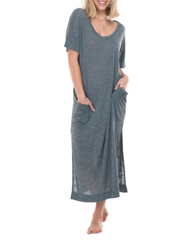 Paper Label Julia T-Shirt Dress-GREY-Medium 89146696_GREY_Medium