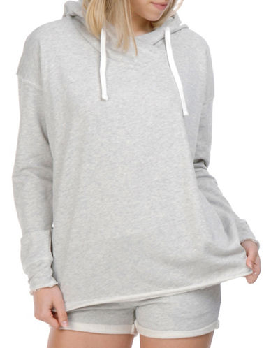 Paper Label Roseline Crossover Hoodie-OATMEAL-Small