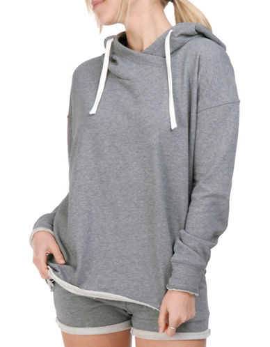Paper Label Roseline Crossover Hoodie-GREY-Large