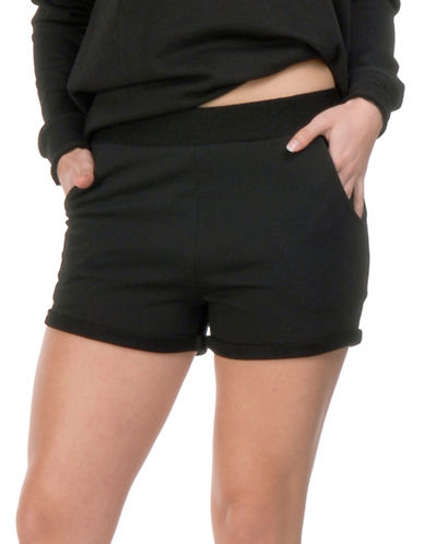 Paper Label Laumann Terry Shorts-BLACK-Small