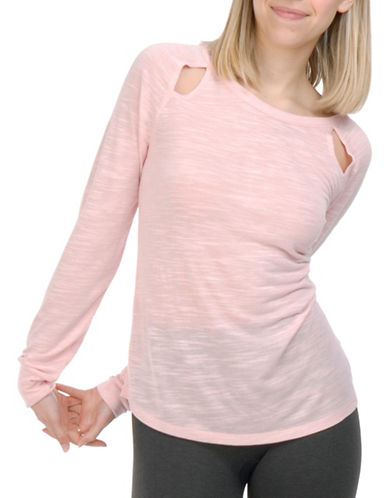 Paper Label Clara Long Sleeve Top-PINK-Large