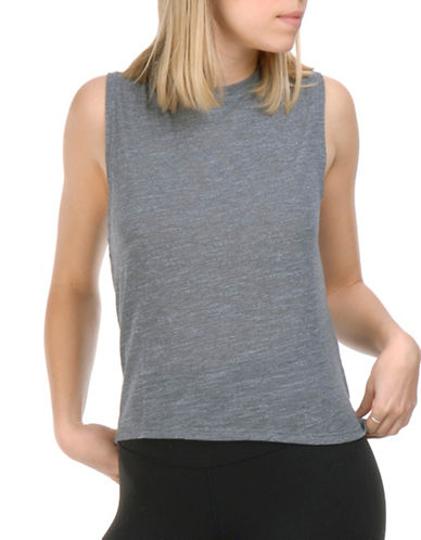 Paper Label Blythe Sleeveless Crewneck Top-GREY-Medium 89362295_GREY_Medium