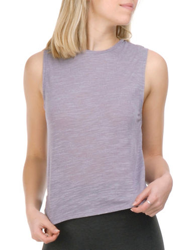 Paper Label Blythe Sleeveless Crewneck Top-PURPLE-Medium