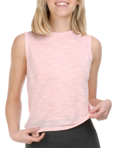 Paper Label Blythe Sleeveless Crewneck Top-PINK-Large