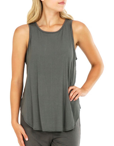 Paper Label Viola Knitted Tank-GREY-Medium