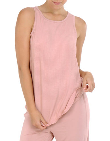 Paper Label Viola Knitted Tank-PEACH-Large