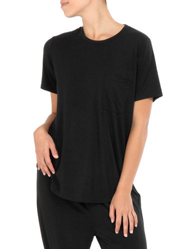 Paper Label Relaxed Fit Tee-BLACK-Small