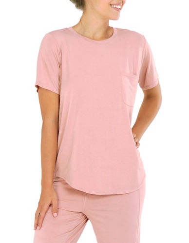 Paper Label Relaxed Fit Tee-PINK-Small
