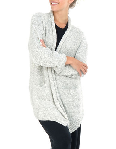 Paper Label Inez Rib-Knit Cardigan-NATURAL-Small