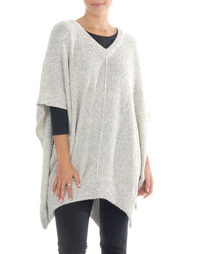 Paper Label Emmanuelle Knitted Poncho-NATURAL-X-Small/Small
