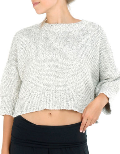 Paper Label Carine Cropped Sweater-NATURAL-Small