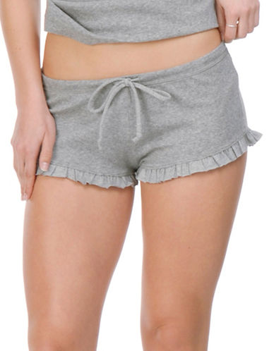 Paper Label Isabeli Drawstring Shorts-GREY MIX-Medium/Large