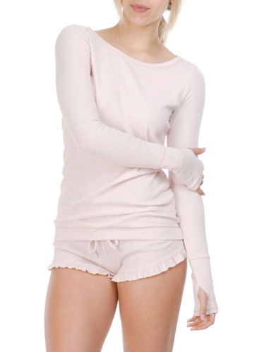 Paper Label Jessa Knitted Sweater-PINK-Large
