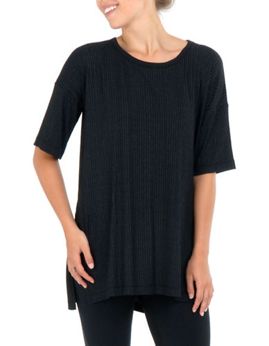 Paper Label Piya Long Tee-BLACK-X-Small