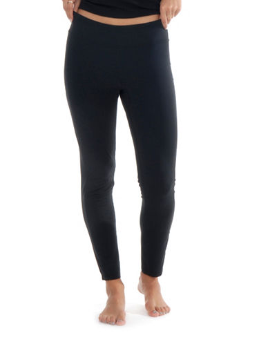 Paper Label Fitted Leggings-BLACK-Medium