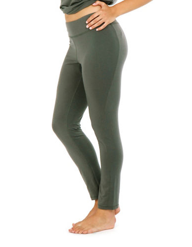 Paper Label Fitted Leggings-EUCALYPTUS-X-Large