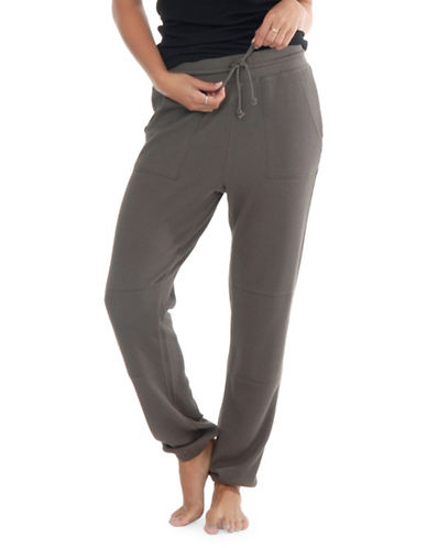Paper Label Cara Waffle-Knit Sweatpants-BEIGE-Large