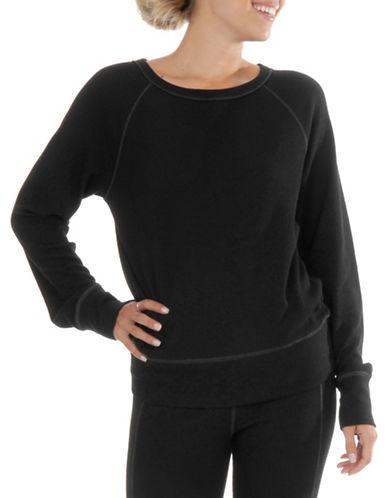 Paper Label Jameela Waffle-Knit Sweatshirt-BLACK-X-Small