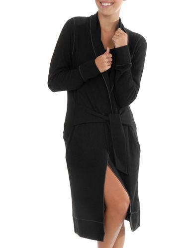 Paper Label Aerin Waffle-Knit Robe-BLACK-Large