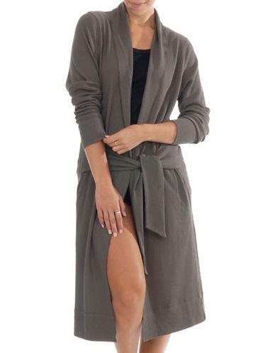 Paper Label Aerin Waffle-Knit Robe-BEIGE-X-Small