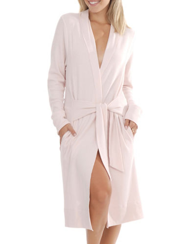 Paper Label Aerin Waffle-Knit Robe-PINK-Large