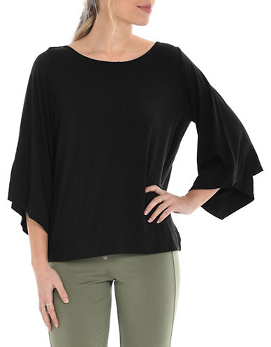 Paper Label Virginia Bell-Sleeve Top-BLACK-Small 89990771_BLACK_Small