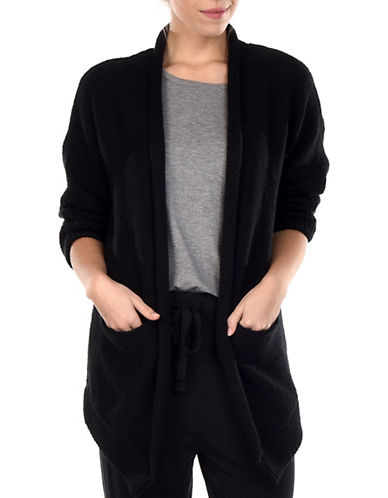 Paper Label Inez Open Front Cardigan-BLACK-Small 89990723_BLACK_Small