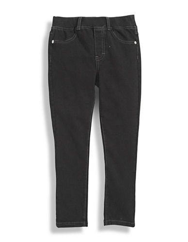 Guess Girls 2 to 6 Knit Denim Leggings-BLACK-4
