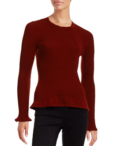 Mo & Co Ribbed Wool Crew Neck Sweater 88522277